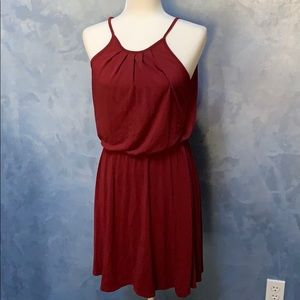 Francesca's Collection Red High Neck Dress